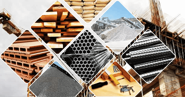 variety of building materials